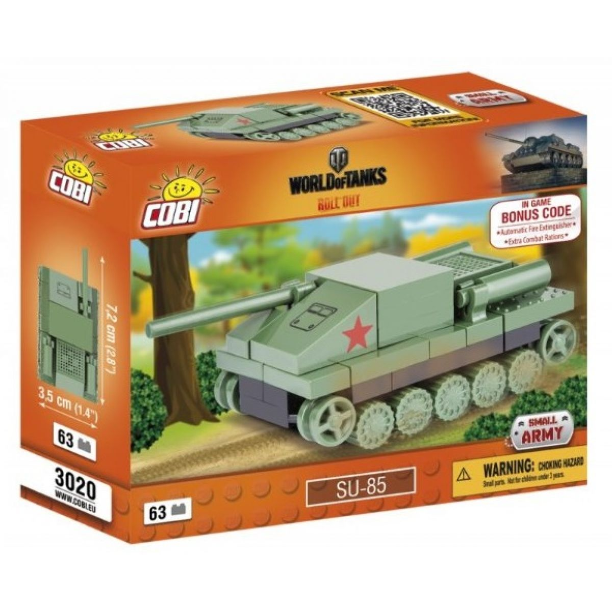 COBI 3020 WORLD of TANKS Nano Tank SU 85 63 k