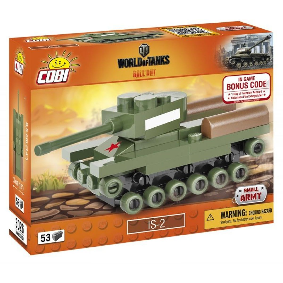 Cobi 3026 World of Tanks Nano Tank IS-2 53 k