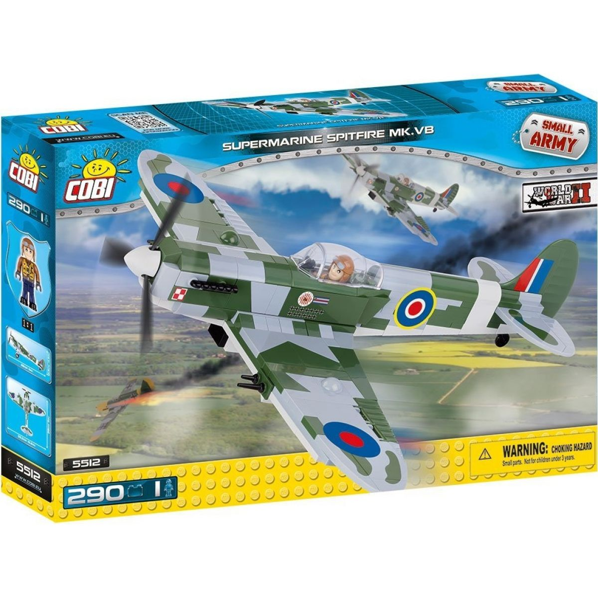 COBI 5512 SMALL ARMY Supermarine Spitfire Mk VB