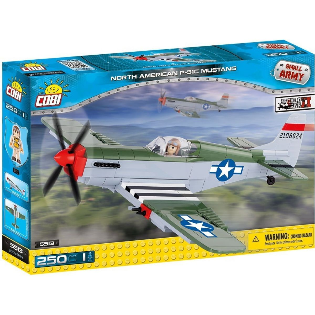 COBI 5513 SMALL ARMY North American P-51C Mustang 250 k