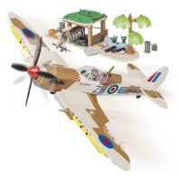 COBI 5545 II WW Supermarine Spitfire Púštna letisko, 400 k, 2 f