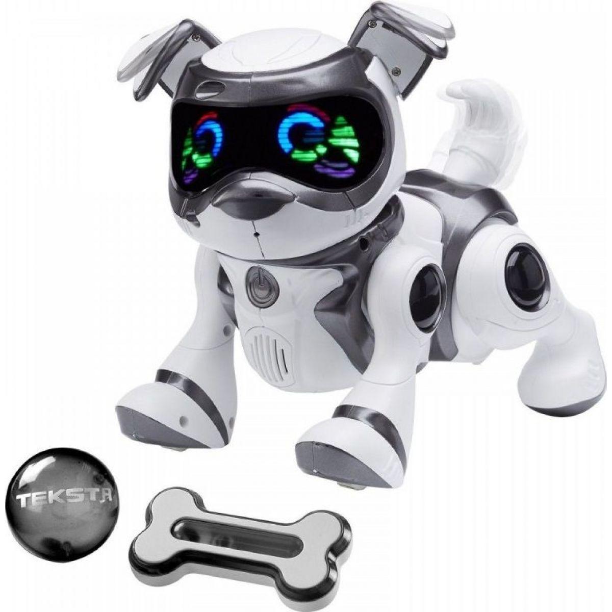 Cobi Teksta Robotické štěně ovládané hlasem Bílo-černá