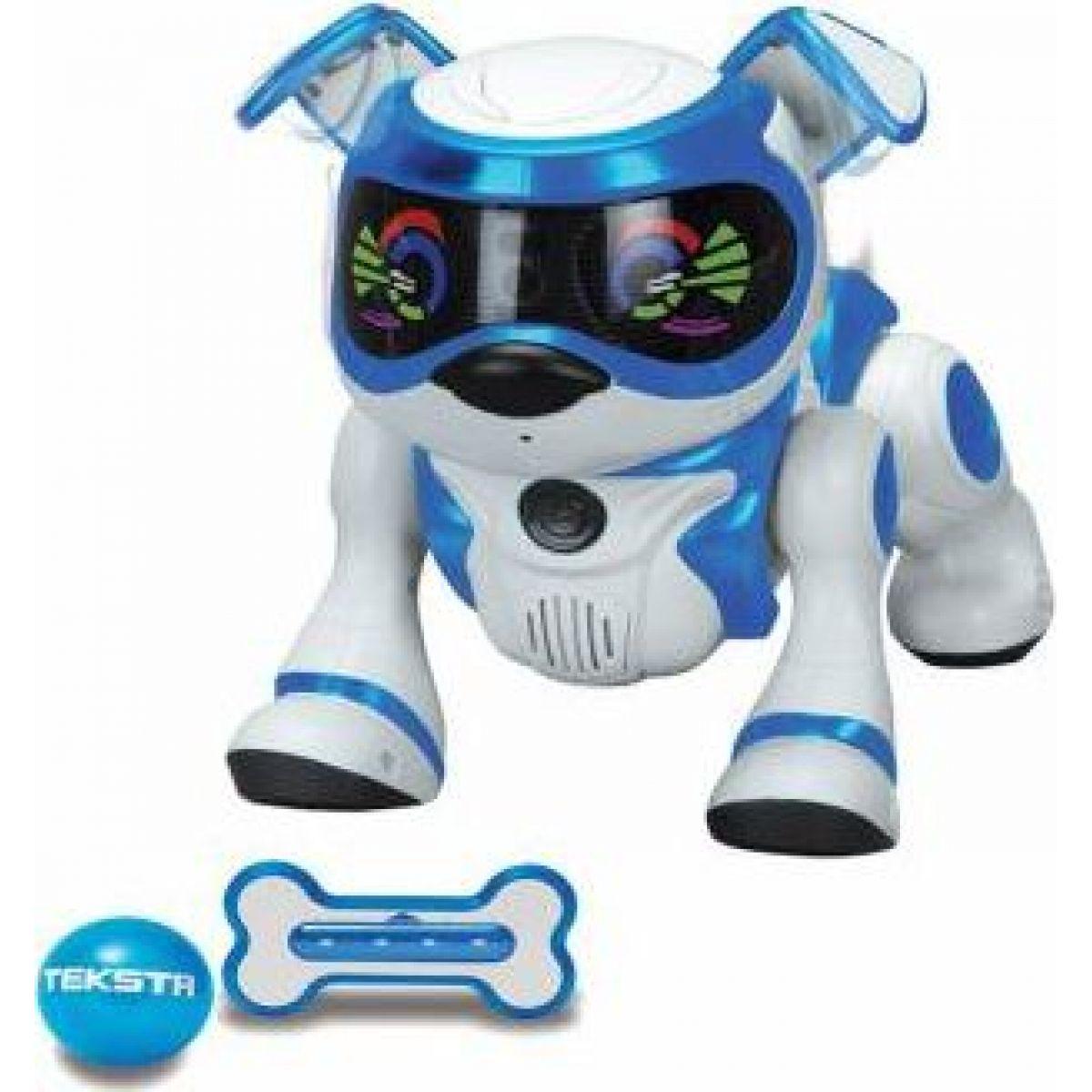Cobi Teksta Robotické štěně ovládané hlasem Bílo-modrá