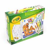 Crayola Kreatívna sada samolepiek s omaľovánkami