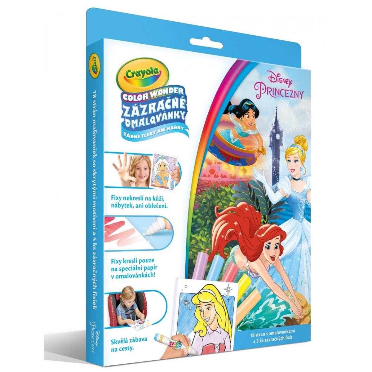 Crayola Zázračné maľovanky Disney Princezné