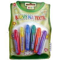 Creatoys Barvy na textil na blistru 6x7ml