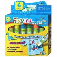 Creatoys Fixy na textil vodě odolné 6ks