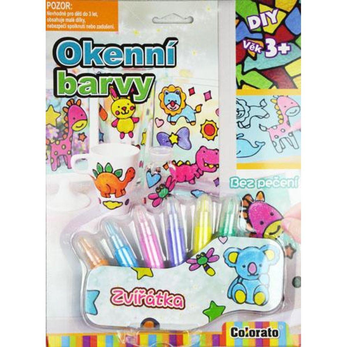Creatoys Okenné farby 6 ks sa zvieracie predlohou