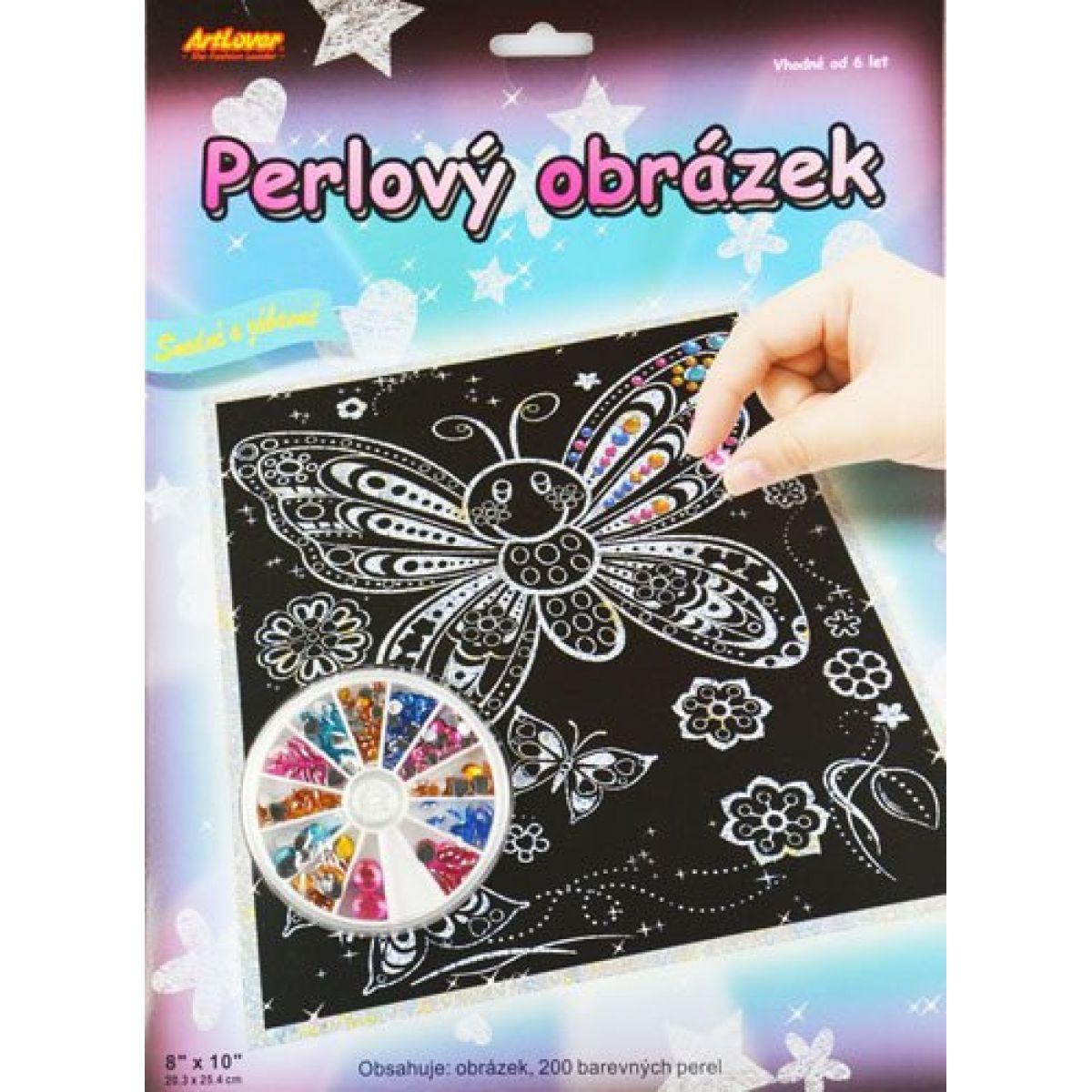 Creatoys Perlový obrázok motýľ