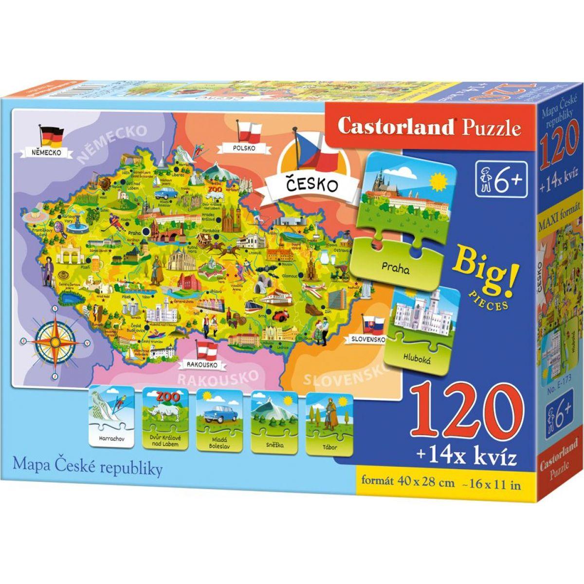 Creatoys Puzzle Mapa Českej republiky 120 dielikov