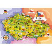Creatoys Puzzle Mapa Českej republiky 120 dielikov 2