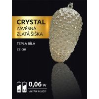 Marimex Crystal Závesná zlatá šiška 22 cm 2