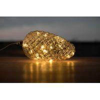 Marimex Crystal Závesná zlatá šiška 22 cm 6