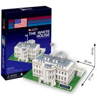 CubicFun 3D Puzzle Biely dom 64 dielikov