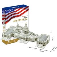 CUBIC FUN 3D puzzle Kapitol Washington 132ks