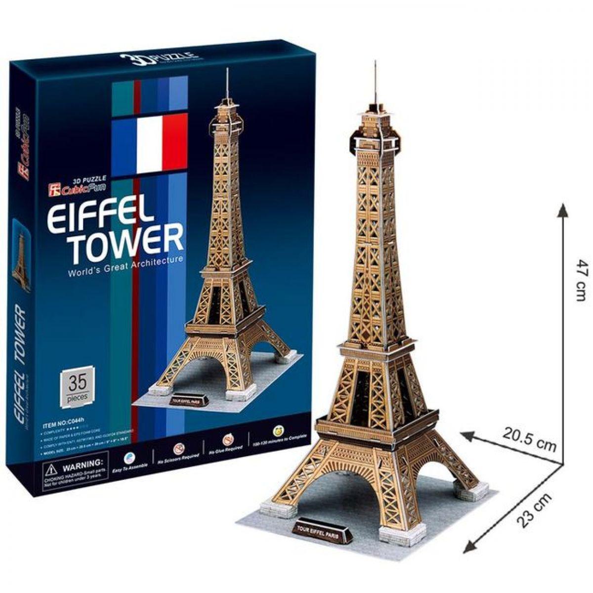 CUBIC FUN 3D puzzle Eiffelova veža 35 ks