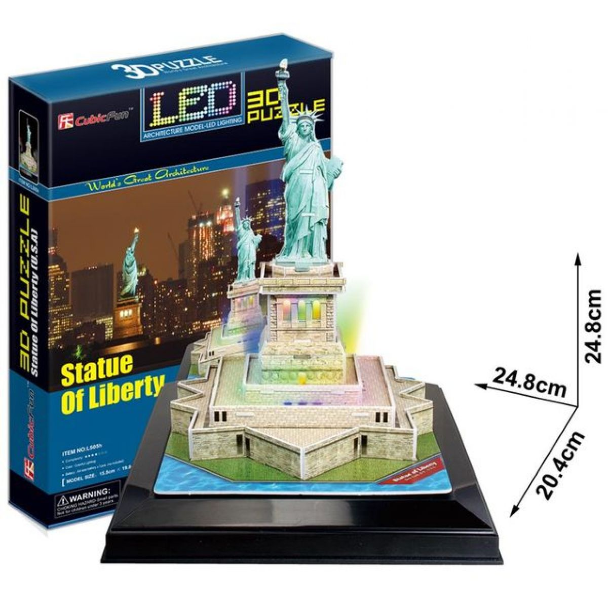 CUBIC FUN 3D puzzle Socha Svobody svítící LED