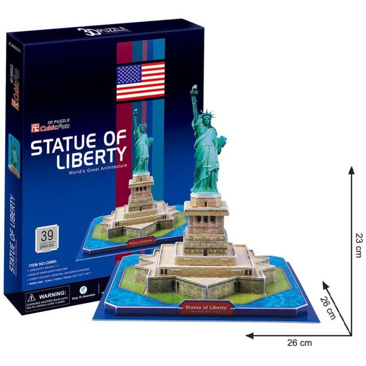 CUBIC FUN 3D puzzle Socha Svobody 39 dielikov