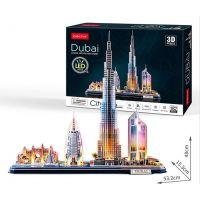 Cubicfun Puzzle 3D Dubai s LED svetlom 182 dielikov