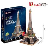 CubicFun Puzzlev 3D Eiffelova veža LED 82 dielikov