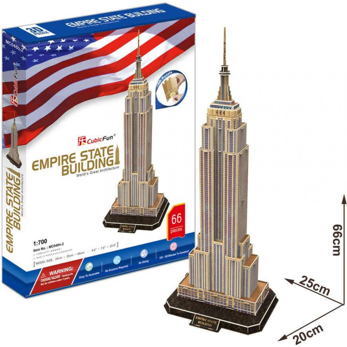 CUBIC FUN 3D puzzle Empire State Building New York
