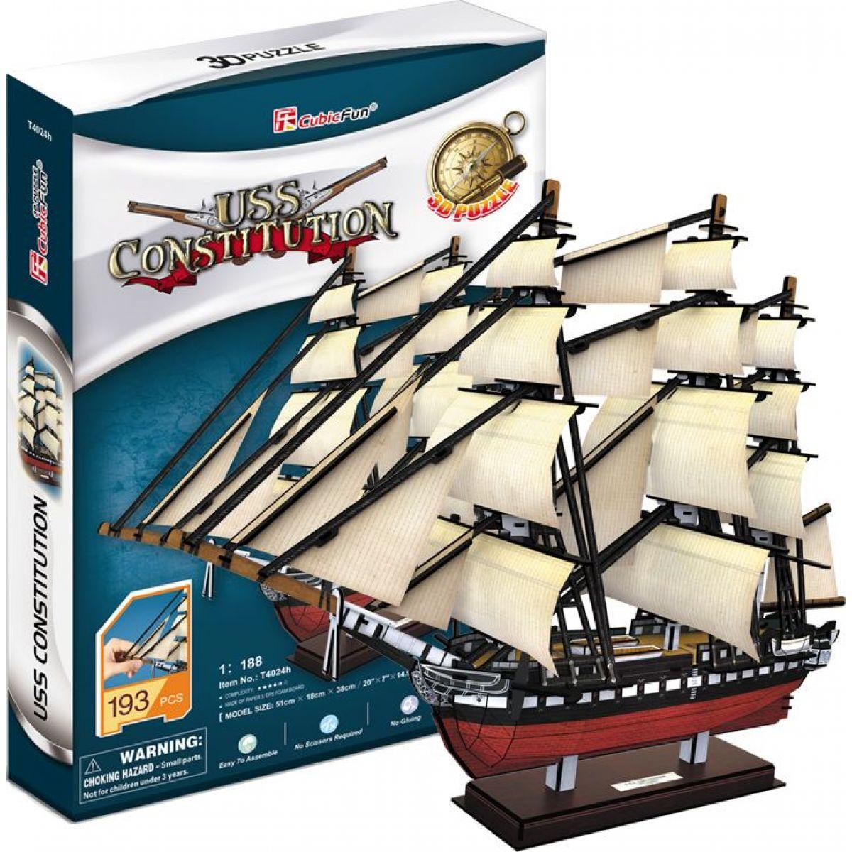 Cubic Fun 3D puzzle Fregata USS Constitution 193 dílků