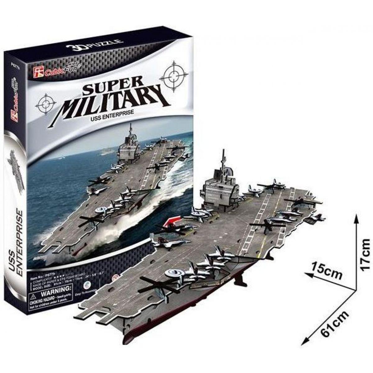 Cubic Fun 3D puzzle Letadlová loď USS Enterprise 121 dílků