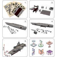 Cubic Fun 3D puzzle Letadlová loď USS Enterprise 121 dílků 3