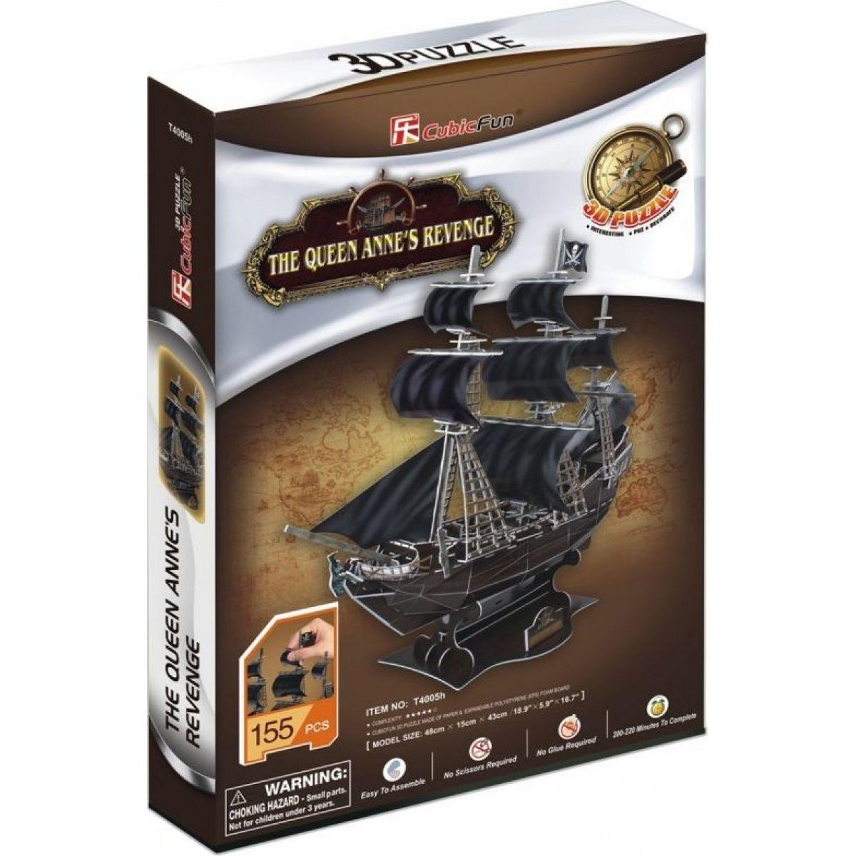 CUBIC FUN 3D puzzle Plachetnica Queen Anne 's Revenge