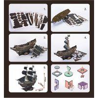 CUBIC FUN 3D puzzle Plachetnice Queen Anne's Revenge 4