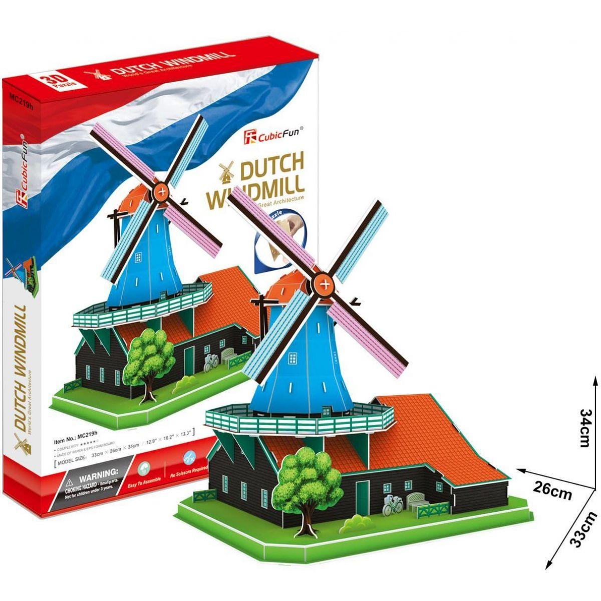 Cubic Fun 3D puzzle Holandský větrný mlýn 71 dílků