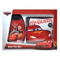 Dárková sada Cars sprchový gel 2v1 300 ml s žínkou McQueen