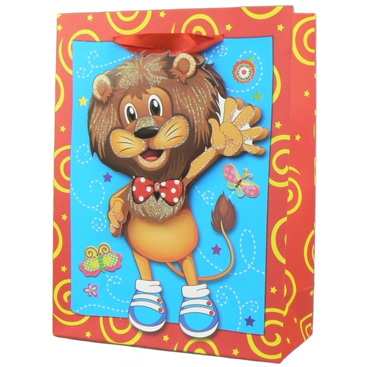 Darčeková taška Zvieratká baby lesk - Lev
