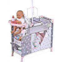 DeCuevas 53035 Skladacia postieľka pre bábiky s 5 funkčnými doplnkami SKY 2020