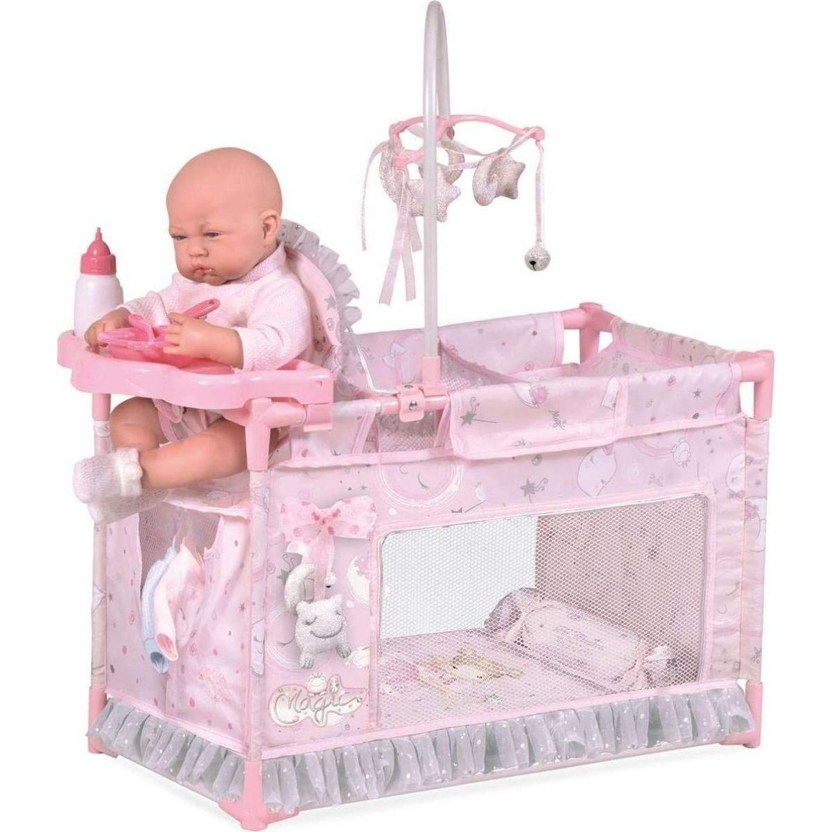 DeCuevas 53134 Moje prvé postieľka pre bábiky s doplnkami Magic Maria 2020