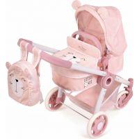 DeCuevas Skladací kočík pre bábiky 3 v 1 s batôžkom Little Pet 2020 - 70 cm