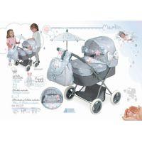 DeCuevas 85029 Skladací kočík pre bábiky sa slnečníkom a doplnky Martin 2019 2
