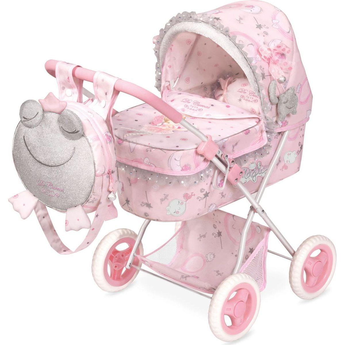 DeCuevas 85034 Skladací kočík pre bábiky s batôžkom a doplnky Magic Maria 2020 - 60 cm