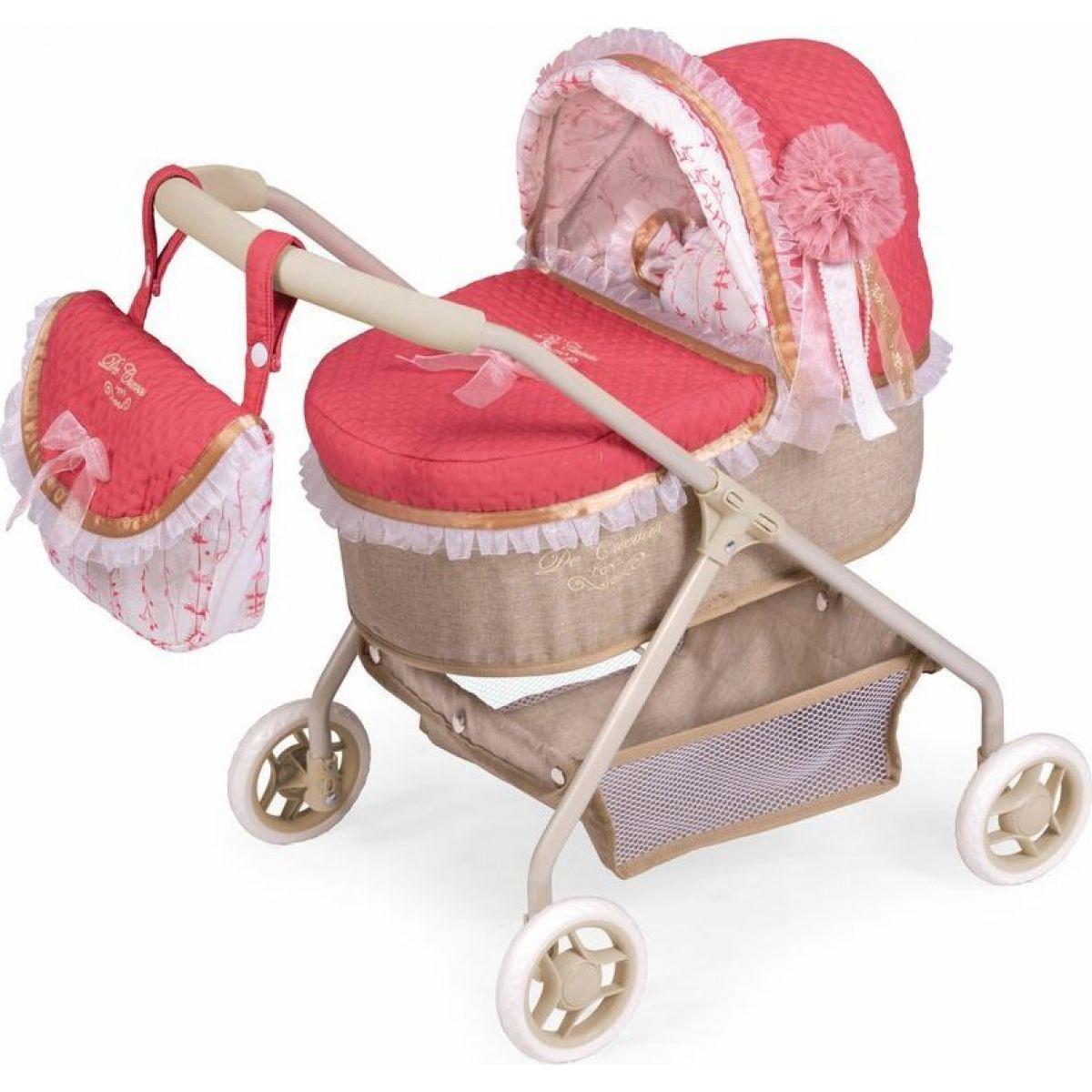 DeCuevas 86033 Môj prvý kočík pre bábiky s taškou a doplnky Martina 2020 - 56 cm