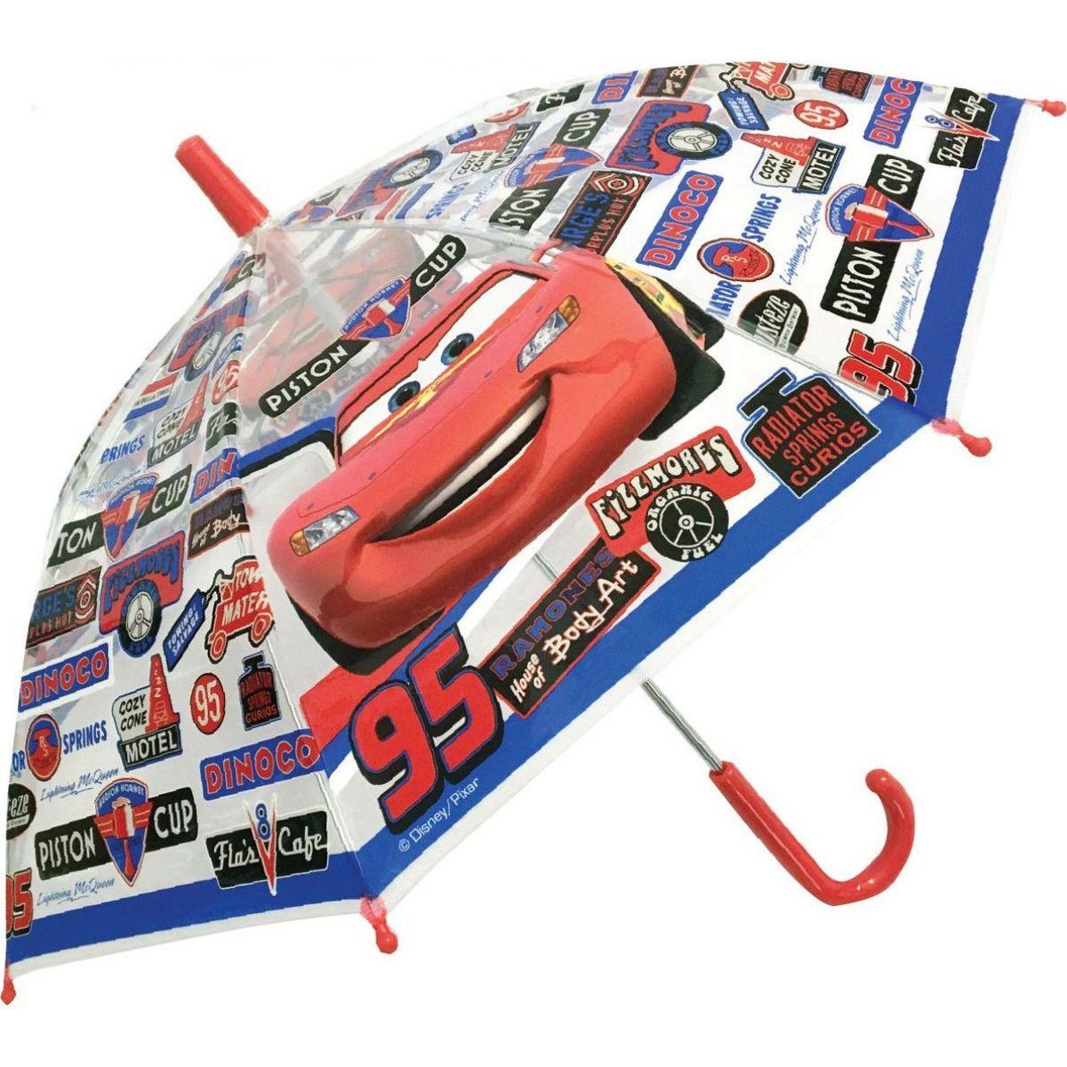 Deštník Cars manuální průhledný