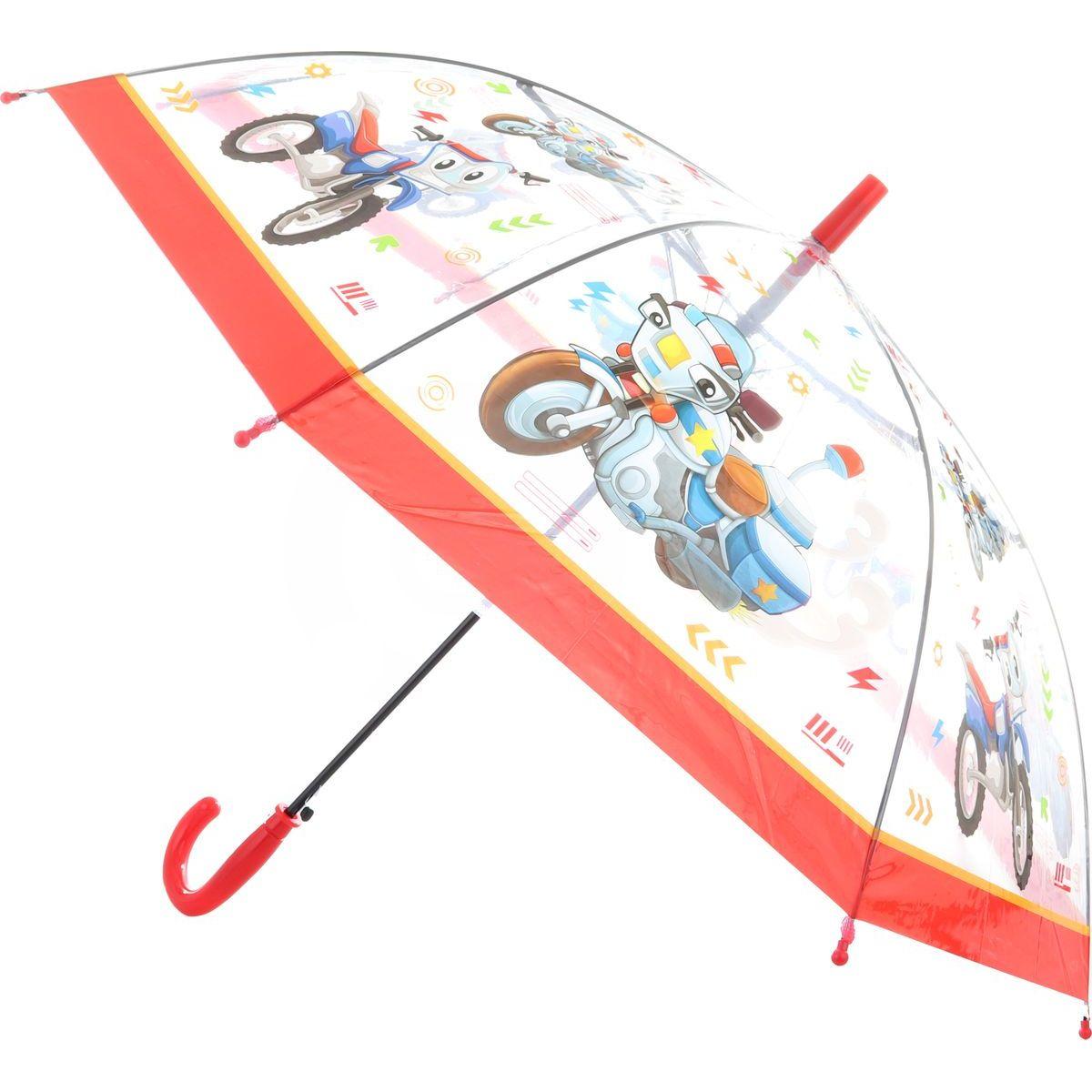 Dáždnik dopravné prostriedky vystreľovací červený