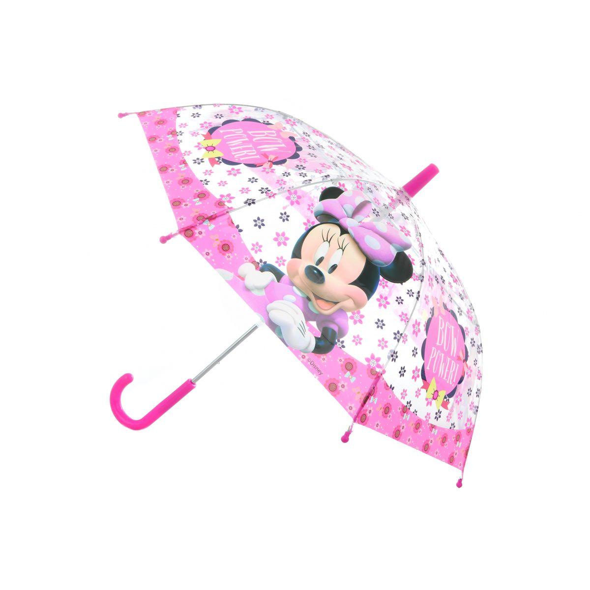 Dáždnik Minnie priehľadný manuálny