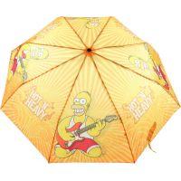 Deštník Simpsonovi skládací oranžový 2