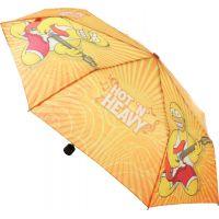 Deštník Simpsonovi skládací oranžový 3