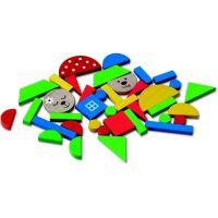 Detoa Magnetické puzzle Medvede 3