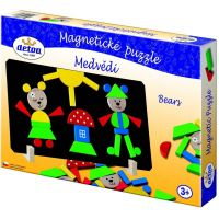 Detoa Magnetické puzzle Medvede 4