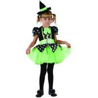 Detské šaty na karneval čarodejnica 92 - 104 cm