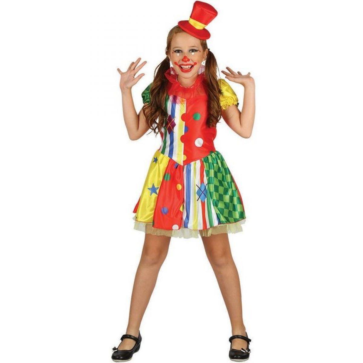 Detské šaty na karneval klaun 120 - 130 cm
