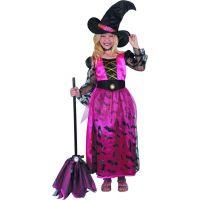 Dětský karnevalový kostým čarodějka 120-130 cm