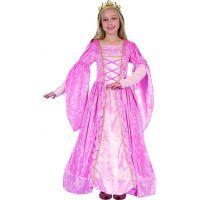Made Detský karnevalový kostým Princezná ružová 130-140 cm